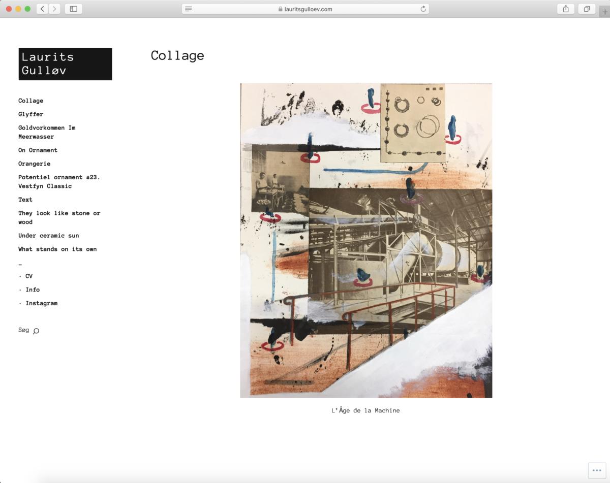 Online portfolio for Laurits Gulløv - af Koncept Kommunikation