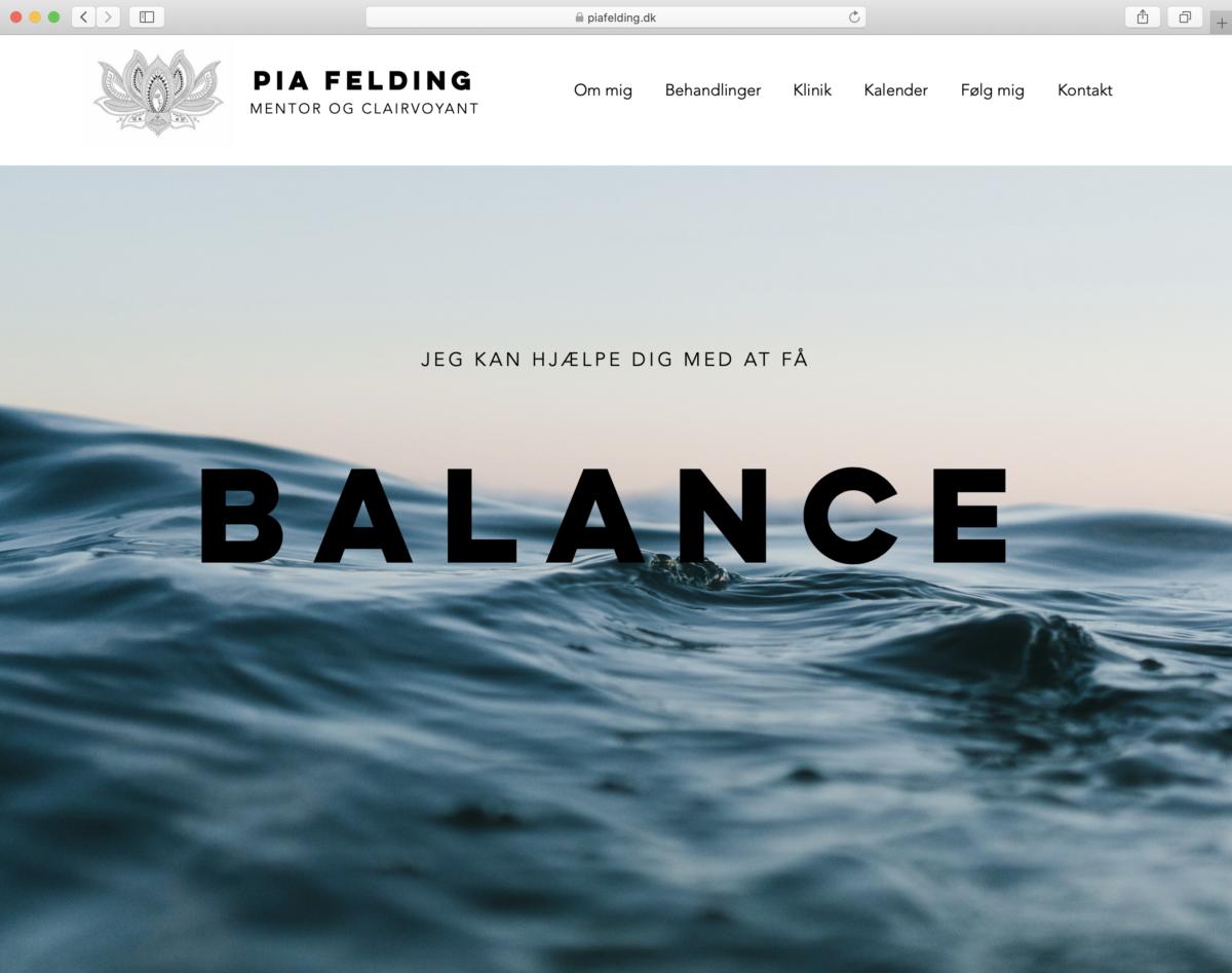 Hjemmeside for Pia Felding - af Koncept Kommunikation