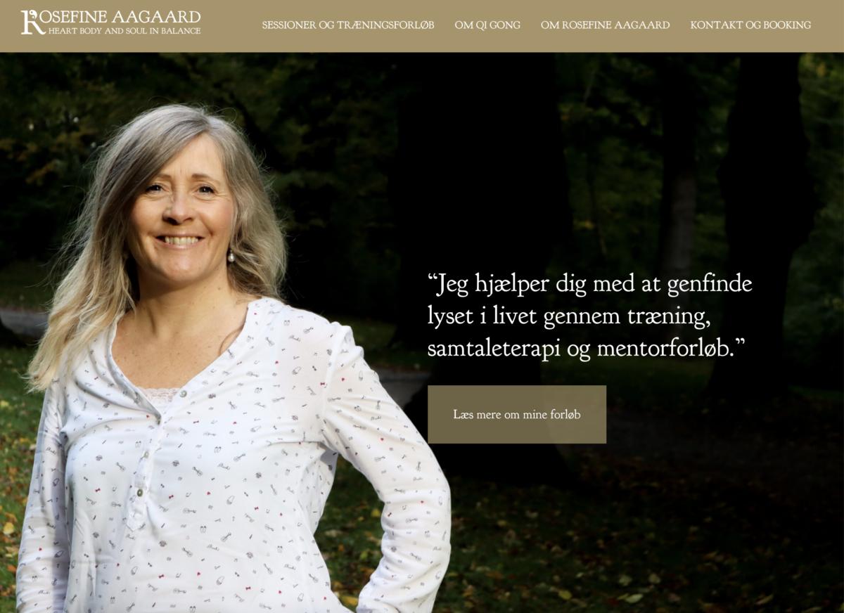 Hjemmeside for Rosefine Aagaard - af Koncept Kommunikation